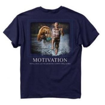 Buck Wear Inc. Fish-Motivation Short Sleeve Tee,