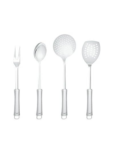3 Claveles Set De Cocina: Tenedor, Cuchara, Pala Fritos, Espumadera