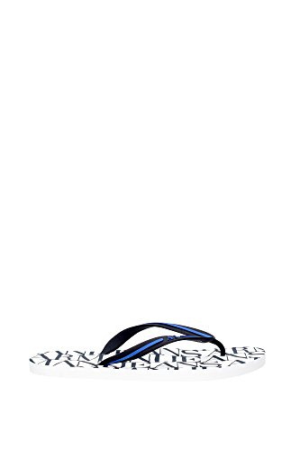 Armani Jeans Thong Logo Uomo Sandalo Bianco