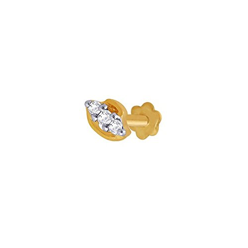 Sangini Sangini 18K Yellow Gold Diamond Nose Ring (Multicolor)