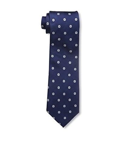 Bruno Piattelli Men's Neat Floral Tie, Blue
