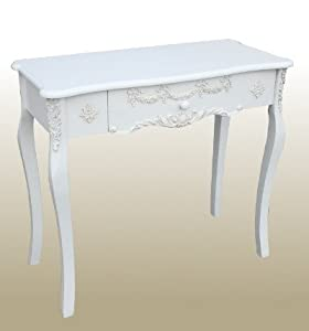 French vintage style shabby chic antique white dressing for French white dressing table