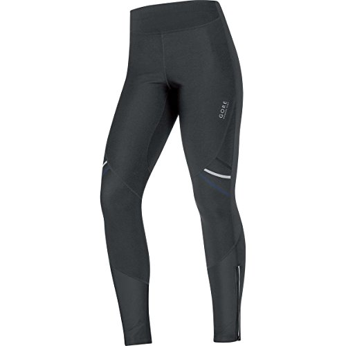GORE RUNNING WEAR, Tights Corsa Donna, Caldi e Stretch, GORE WINDSTOPPER Soft Shell, MYHTOS LADY 2.0 WS SO, Taglia 34, Nero, TWSMYL990002