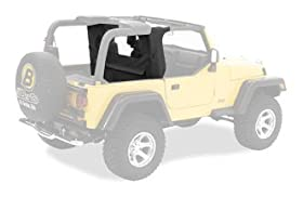 Bestop 80035-35 Black Diamond WrapAround Windjammer Wind Break for 03-06 Wrangler TJ including Unlimited