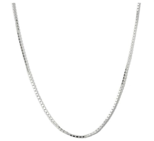 Sterling Silver Box Chain Necklace - 1mm - 16