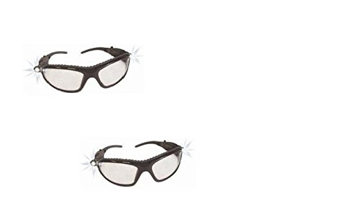 Sas Safety 5420-50 Led Inspectors Safety Glasses Pack Of 2