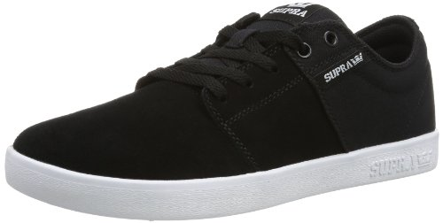 Supra - Stacks II, Senakers a collo basso, unisex, Nero (BLACK - WHITE BKW), 41