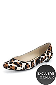 Autograph Leather Animal Print Pumps