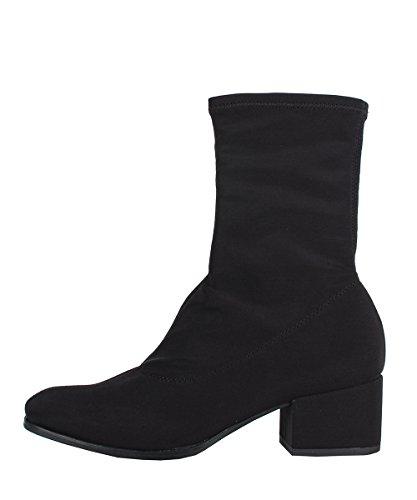 Vagabond Daisy Boots Black - Stivaletti Da Donna Neri In Tessuto