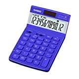 カシオ計算機 デザイン電卓 12桁 ジャストタイプ クールブルー JF-V200BE-N