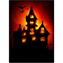 Martha Stewart Crafts Halloween Light Up Haunted House Sticker
