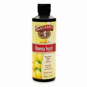 Barlean'S Organic Oils Omega Swirl Omega-3 Fish Oil Supplement, Lemon Zest 16 Fl Oz (473 Ml)