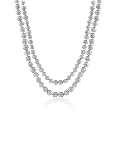 Splendid 8-8.5mm Grey Freshwater Pearl Endless Necklace