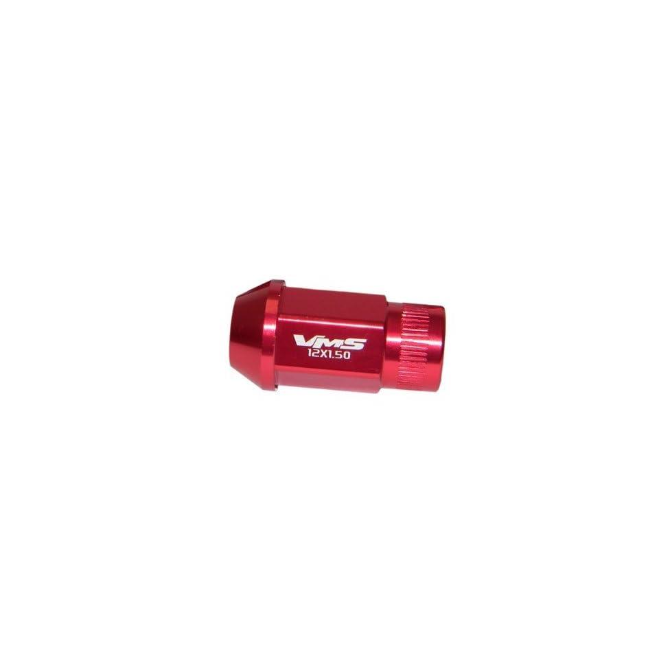 20PC Piece Mazda Protégé 5 626 6 3 MX5 MX6 RX8 RX7 CX7 CX9 Miata Mazdaspeed Light Weight Aluminum Racing Lug Nuts 12x1.5 Red