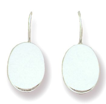 11mm Oval Engravable Earrings