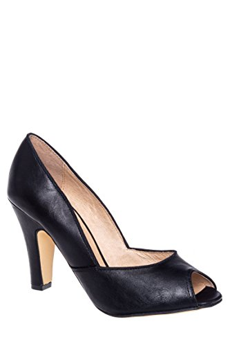 Exotic Open Toe Mid Heel Pump