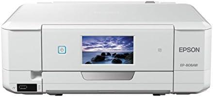 EPSON プリンター インクジェット複合機 Colorio EP-808AW 無線LAN Wi-Fi Direct スマートフォンプリント ホワイト