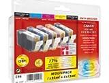 PrintMaxx Canon C99 Multipack komp PGI15, CLI8 (Bk/Y/M/C); 1x26 + 4x13ml