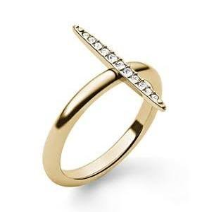 Michael Kors 'Matchstick' Pave Ring Gold Size 7