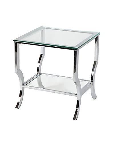 Millenial Collection Amy Glam Glass End Table