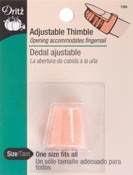 Dritz Plastic Thimble Adjustable 166; 6 Items/Order