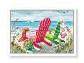Tropical Beach Xmas Vacation Boxed Christmas Cards