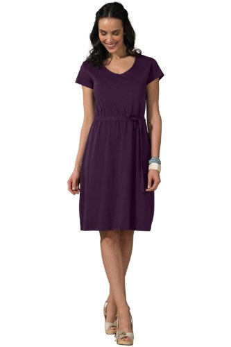 Fair Indigo Organic Pima Cotton V-neck Dress