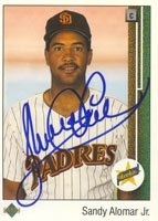 Sandy Alomar Jr. San Diego Padres 1989 Upper Deck Autographed Hand Signed Trading... by Hall+of+Fame+Memorabilia