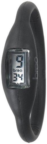Breo Unisex PU-BR10073 Sport Roam Medium (17cm) Black Rubber Watch