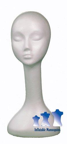 Long Neck Female Head, Styrofoam White