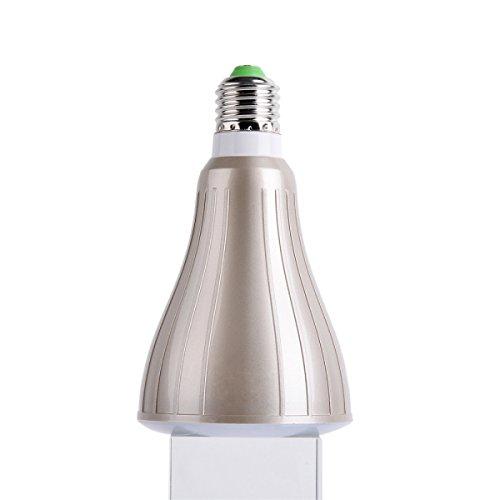 Ebour Wireless Portable Speaker Bulb Led Lamp Light With Bluetooth Speaker Mobile App Control 6W Brown