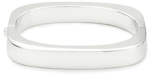 Zina Sterling Silver Contemporary Collection Square Hinged Bangle Bracelet