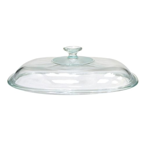 CORNINGWARE French White 4-qt Oval Glass Cover