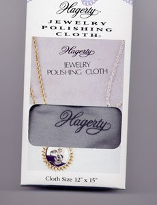 Hagerty 12-by-15-inch Silver Jewelry Polishing Cloth, Gray