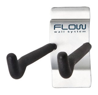 Flow Wall FSH-036-4 8-Inch Hook, Add-On Accessory for Flow Wall System, Silver, 4-Pack