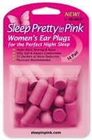 Sleep pretty in pink womens ear plugs - 28 pieces