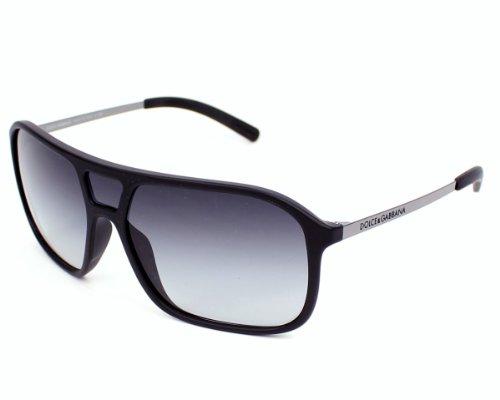 D&G Dolce & Gabbana Men'S 0Dg6083 Rectangular Sunglasses,Matte Black,34 Mm