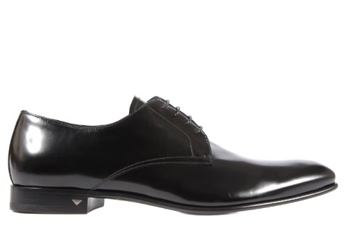 Prada men's classic leather lace up laced formal