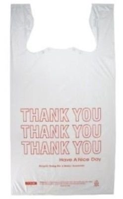Prime Plastics Small T-Shirt Thank You Grocery Shopping Bags 8