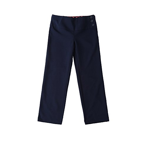 Bienzoe Girl's Classic Stretchy School Uniforms Adjust Waist Pant