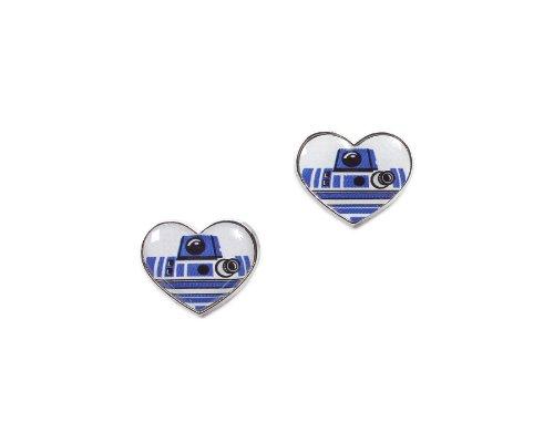 Disney Star Wars R2-D2 Heart Stud Earrings