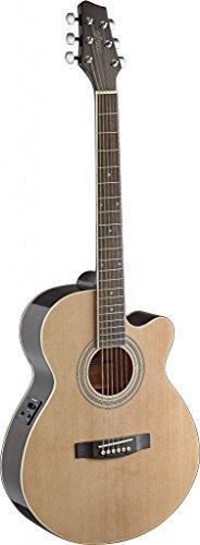 Stagg Sa40Mjcfi-N Electro-Acoustic Mini Jumbo Guitar - Natural