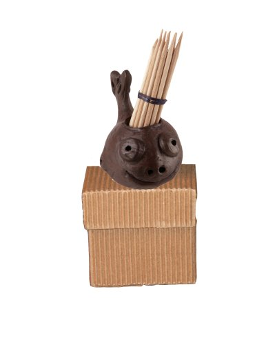 Pomaireware Clay Happy Whale Toothpick Holders with Box