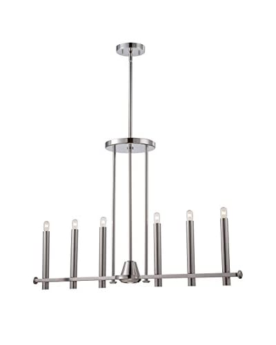 Nuvo Lighting Telegraph 7-Light Pendant, Polished Nickel