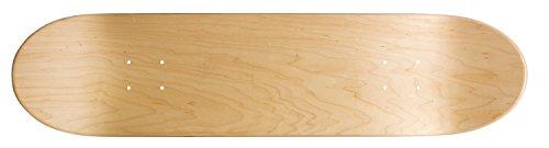 Ridge Skateboards Concave Deck- Natural Design Skateboard Deck, Marrone, 32 x 8 cm