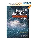 img - for The Observer's Sky Atlas 3th (third) edition Text Only book / textbook / text book