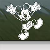 Mickey Mouse Disney White Sticker Decal Car Window Wall Macbook Notebook Laptop Sticker Decal