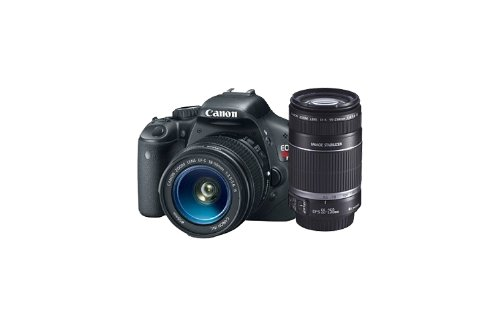 Canon EOS Rebel T2i 18 MP CMOS APS-C Sensor DIGIC 4 Imaging Digital SLR Camera with EF-S 18-55mm f/3.5-5.6 IS Lens + Canon EF-S 55-250mm f/4.0-5.6 IS Telephoto Zoom Lens