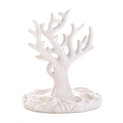 Coral Branch Porcelain Jewelry Holder