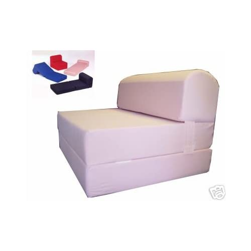 "Amazon Pink Sleeper Chair Folding Foam Bed Sized 6"" Thick X 32&quot"